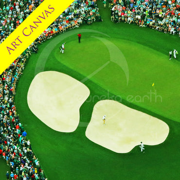 Canvas #3 (33 x 33) Tiger Woods - 2019 Masters Tournament