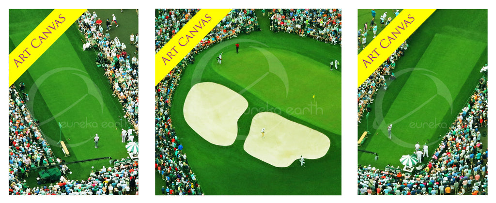 Canvas SET 1, 2, and 3 - Tiger Woods - at the 2019 Masters Tournament (23/33/23 Width) (33 Height)