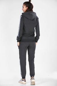 Women's Hooded Anthracite Sweat Suit - SisBrothers