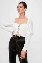 Load image into Gallery viewer, Women's Ecru Crop Blouse - SisBrothers