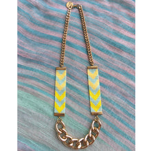 Load image into Gallery viewer, Chevron Priestess II Lime Beaded Necklace - Yellow and Lime - SisBrothers