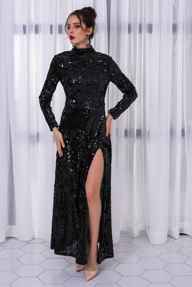 Black Sequin Gown - SisBrothers