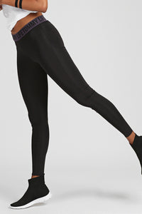 Women's Belted Black Sport Tights - SisBrothers