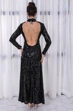 Load image into Gallery viewer, Black Sequin Gown - SisBrothers