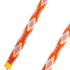 Twilight Long Woven Beaded Necklace - Orange - SisBrothers