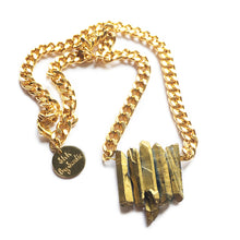Load image into Gallery viewer, Rocked Up Mini Crystal Quartz Necklace (Gold) - SisBrothers