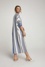 Load image into Gallery viewer, Women's Striped Blue Dress - SisBrothers