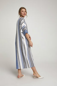 Women's Striped Blue Dress - SisBrothers