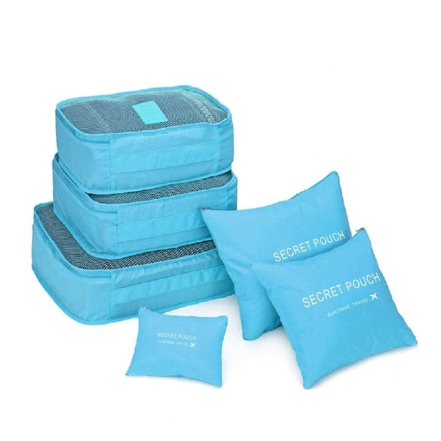 6 Pcs/set Packing Cubes Organisers