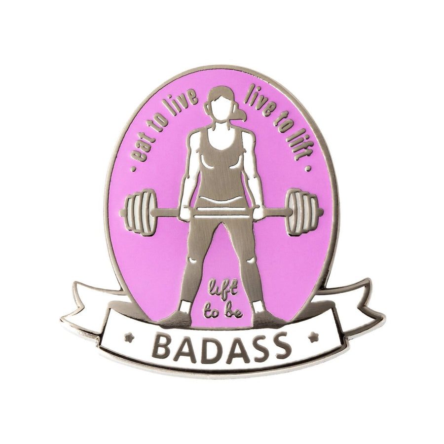 qontevo female weightlifter crossfit olympic weightlifting enamel pin