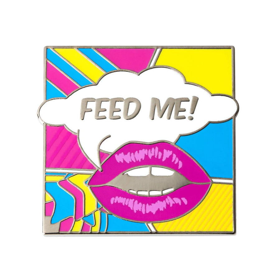 feed me cute and funny enamel pin