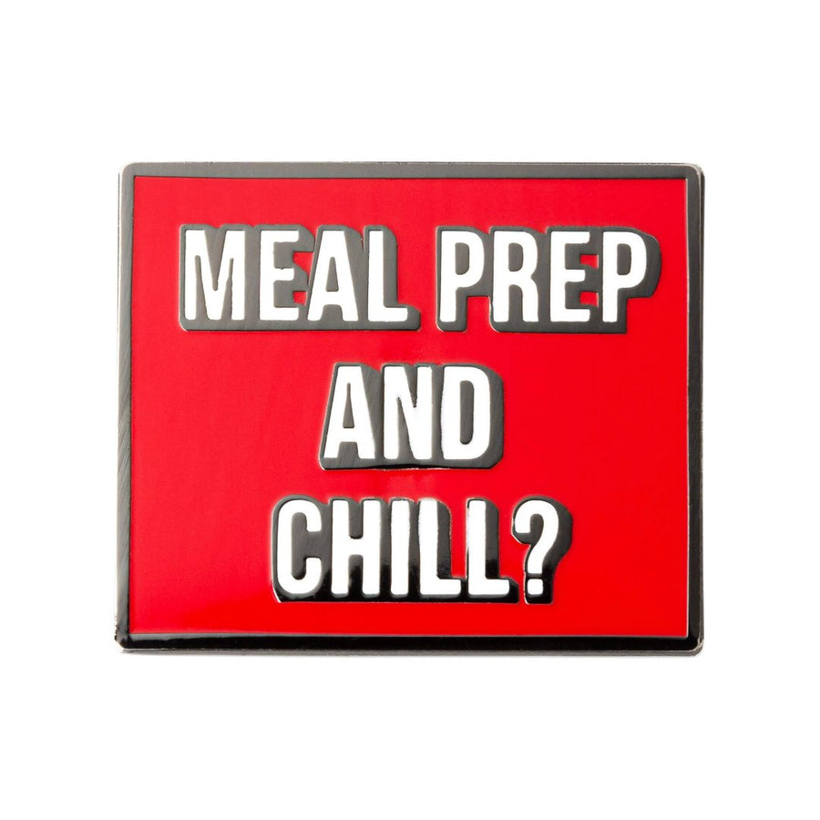 qontevo meal prep and chill enamel pin