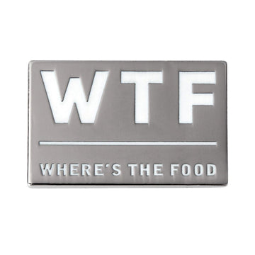 qontevo wtf wheres the food foodie funny enamel pin