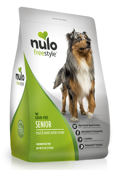 Nulo FreeStyle Grain Free Trout and Sweet Potato Senior Recipe Dry Dog Food