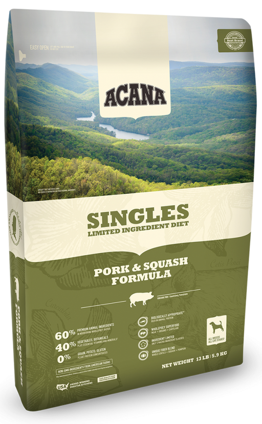 ACANA Singles Limited Ingredient Diet Pork and Squash Formula Grain Free Dry Dog Food