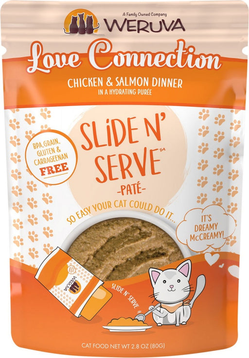 Weruva Slide N' Serve Grain Free Love Connection Chicken & Salmon Dinner Wet Cat Food Pouch