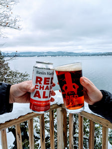 Basin Harbor Red Chair Ale Pint Glass