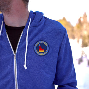 WC Three Stripe Blue Zip Up Hoodie