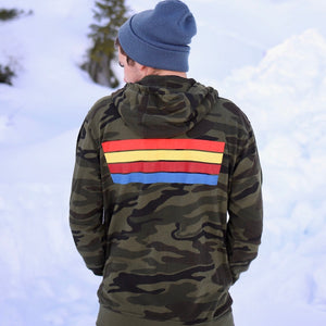 WC Camo Three Stripe Zip Up Hoodie