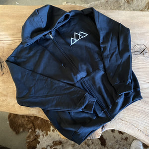 Black Stencil Zip-Up
