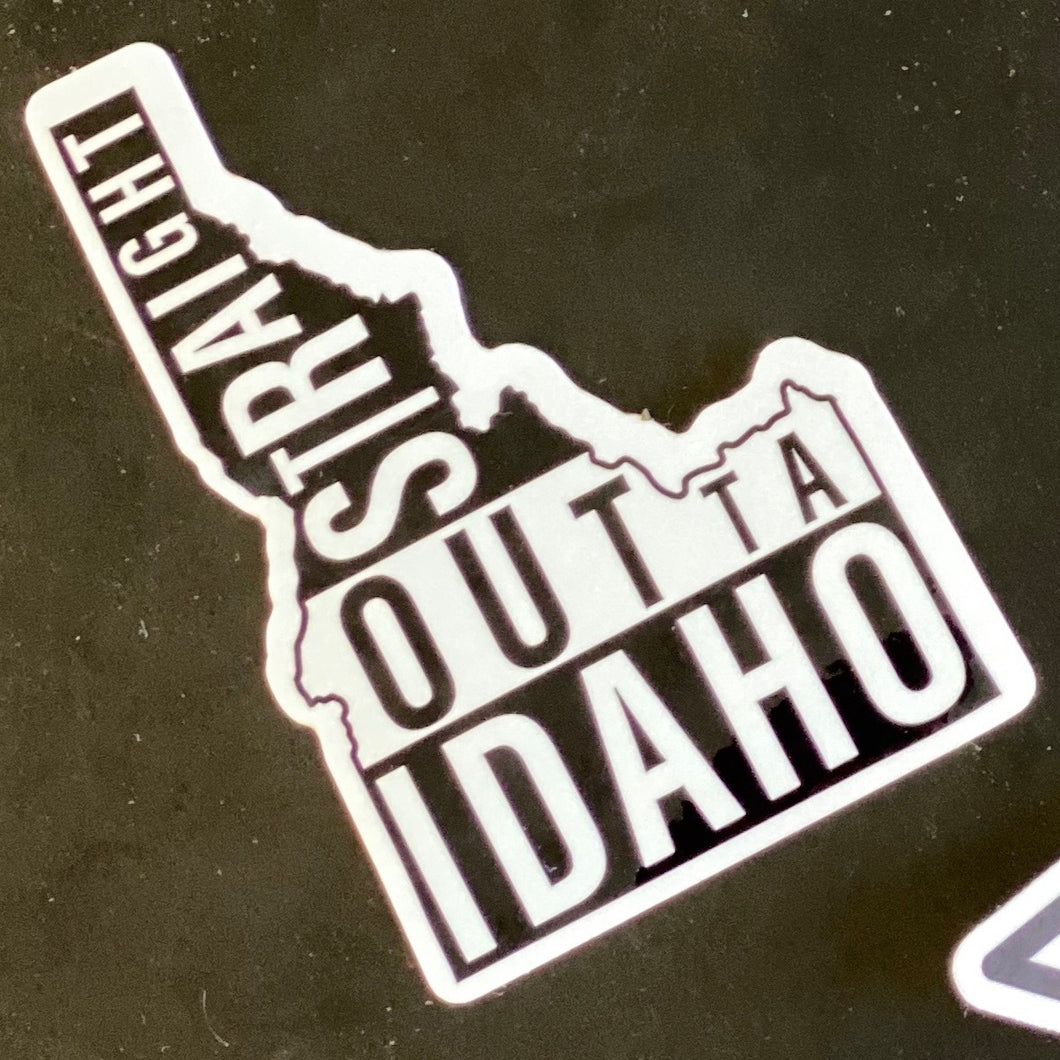 Private Listing - Straight Outta Idaho stickers