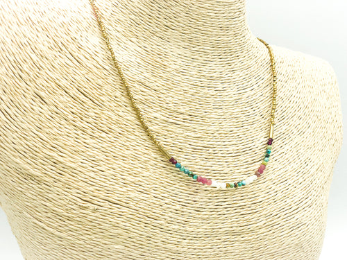 The Patterned Birthstone Necklace