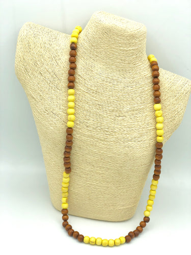 #WeBelieveATX Necklace (yellow/brown)
