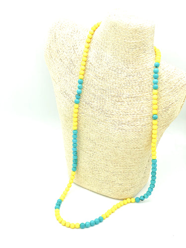 #webelieve Necklace (yellow/teal)