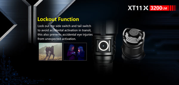 Best Rechargeable LED Flashlight 2018 Klarus XT11X 3200Lumens 18650 Micro-USB Dual Switch LED Light