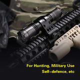 XT11 Tactical Flashlight, 1060LM, Dual Tail Switch, USB Rechargeable 18650 Battery,4 Lighting Modes