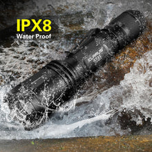 Load image into Gallery viewer, XT11 Tactical Flashlight, 1060 Lumens and CREE LED, Dual Tail Switch, USB Rechargeable 18650 Battery,4 Lighting Modes