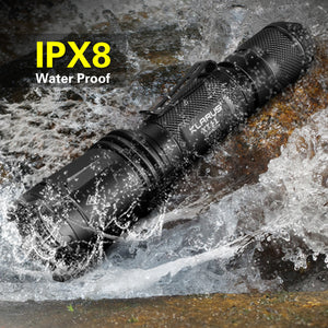 XT11 Tactical Flashlight, 1060 Lumens and CREE LED, Dual Tail Switch, USB Rechargeable 18650 Battery,4 Lighting Modes