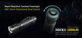 KLARUS 360X1 Rechargeable Tactical Light, 1800LM, 246m Throw, CREE XHP35 HD