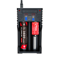 Load image into Gallery viewer, K2 Two cell charger compatible to almost all rechargeable batteries for use as a power bank