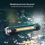 Klarus Rechargeable Work Light, 550 Lumens COB, Magnetic Tail & Hook, 180°Rotate & Foldable, 7 Light Modes,  WL1