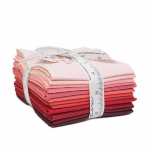 Bella Solids Red Fat Quarter Bundle