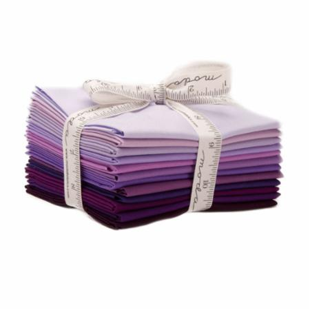 Bella Solids Purple Fat Quarter Bundle