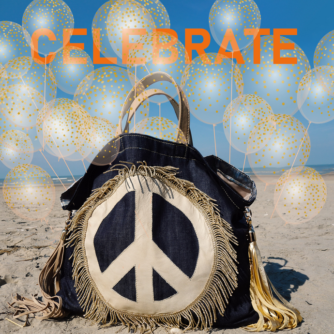 PEACE BAG ☮ `Royal blue Indigo´