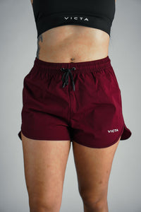 VICTA Women's Performance Training Shorts – Maroon