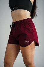Load image into Gallery viewer, VICTA Women's Performance Training Shorts – Maroon