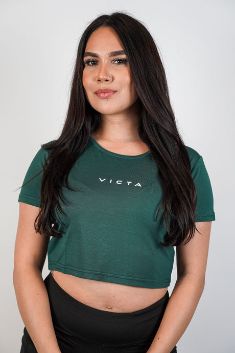 Essential Crop Top – Teal Green