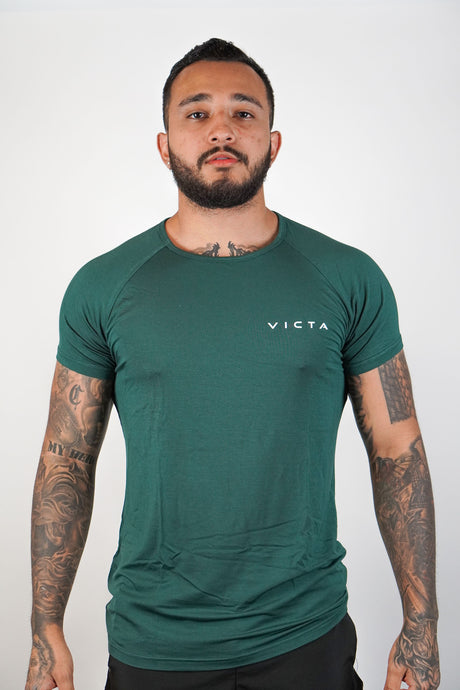 Essential Raglan – Teal Green
