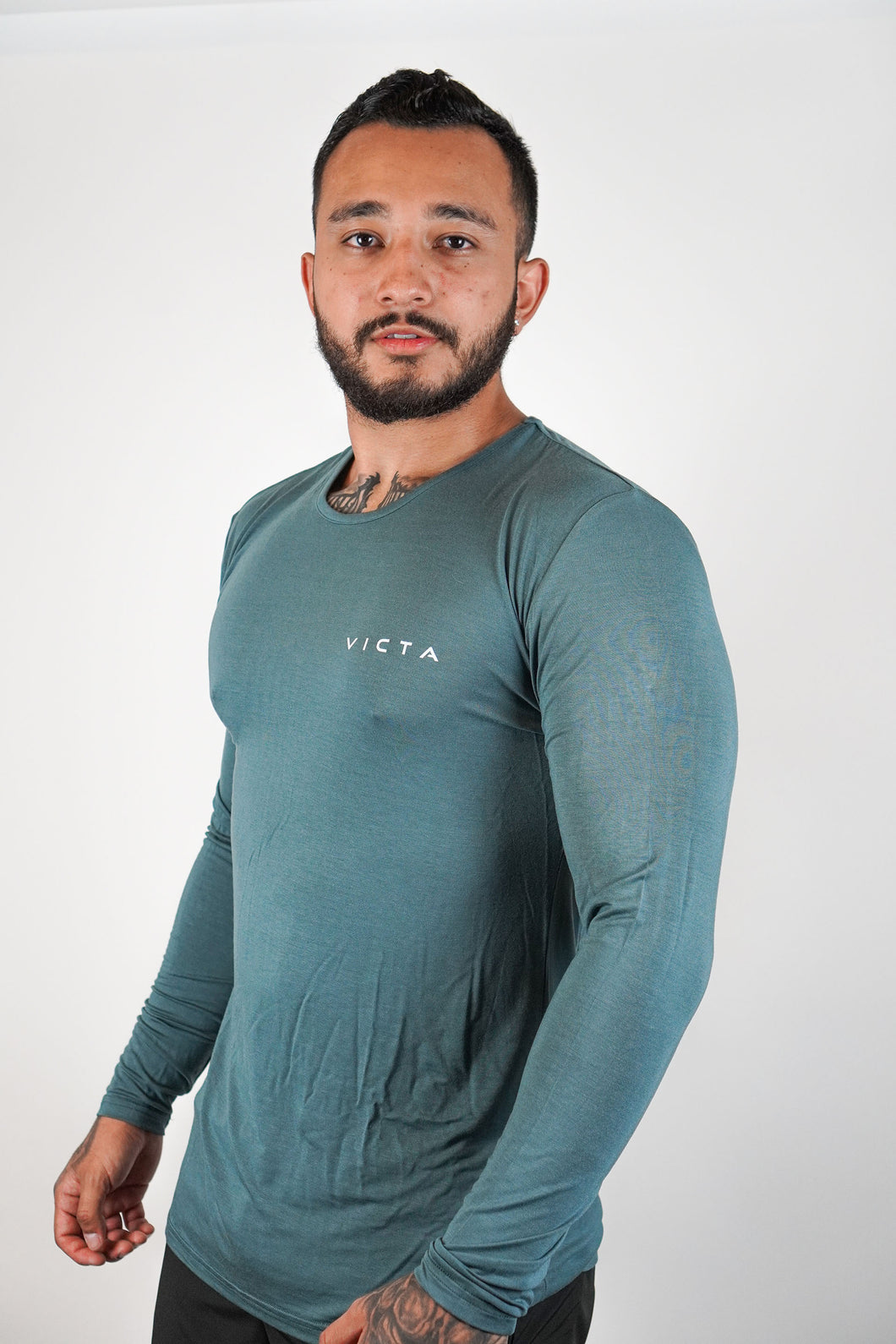 Essential Unisex Long Sleeve – Stone Blue
