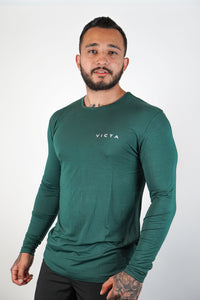 Essential Unisex Long Sleeve – Teal Green