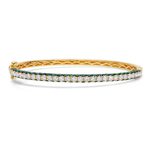 3 Sided Diamond Bangle