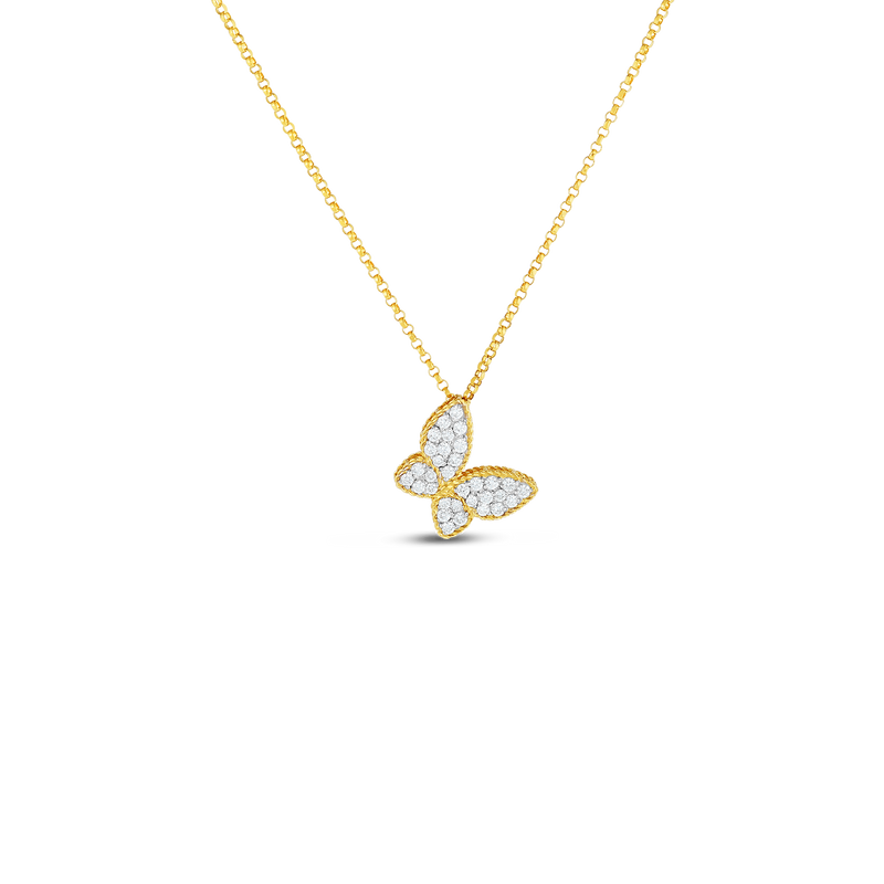 PRINCESS 18KT GOLD BUTTERFLY PENDANT WITH DIAMONDS