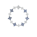 PRINCESS FLOWER 18K DIAMOND & SAPPHIRE FLOWER BRACELET