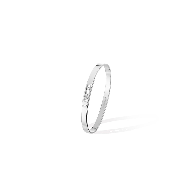 Move Noa Bangle PM - White Gold