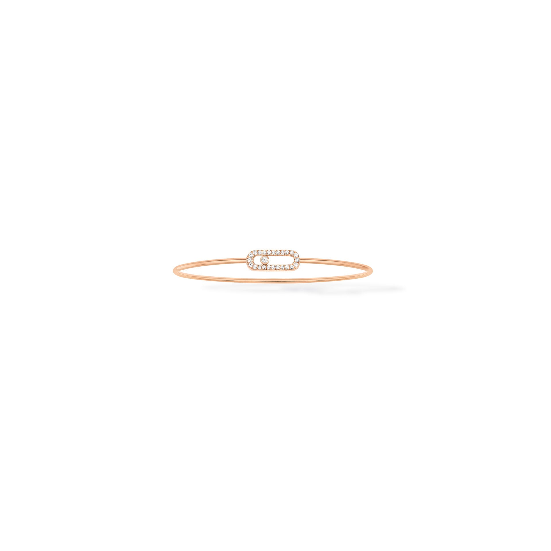 Move Uno Thin Bangle - Pink Gold