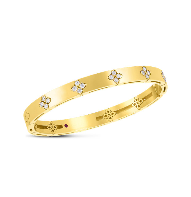 18KYG DIAMOND LOVE IN VERONA BANGLE